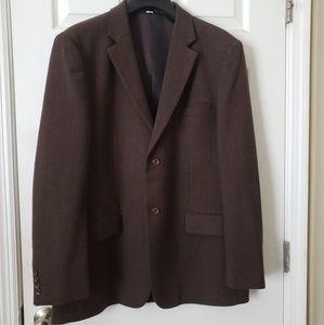 Claiborne Brown 100% Wool Blazer Mens 44 REG